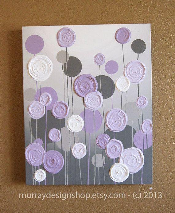 Easy way to add custom color to different areas - hallway, basement, bathroom, etc.~ BRG                                                                   Grey and Purple Modern Nursery Art by MurrayDesignShop