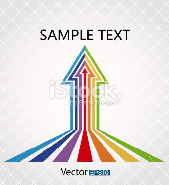 Colorful arrows Royalty Free Stock Vector Art Illustration