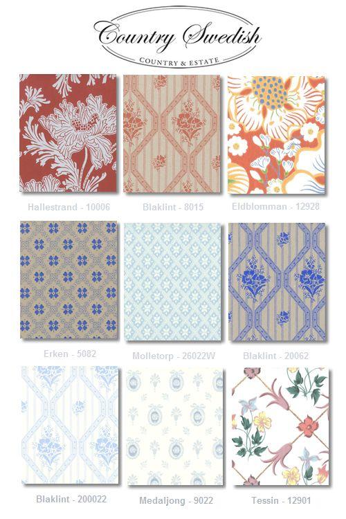 Country Swedish Wallpaper1 Swedish Styled Wallpaper