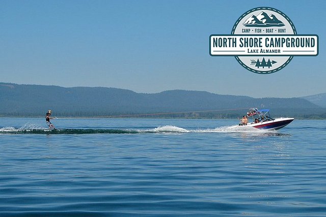 Come visit the North Shore Campground and #RVPark located in #NorthernCalifornia in Plumas county in a town called Lake Almanor - just minutes away from Chester. We have a large variety of #RVsites and #Tentsites just waiting for you to come rent. Go #camping and explore the great #outdoors of the #NorthState. Check out this #boatrental just cruising on the lake. Pretty picturesque huh? Visit northshorecampground.com or email info@northshorecampground.com to find rental availabilities!
