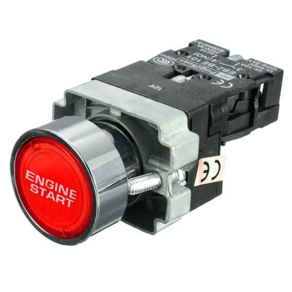 12V Red illuminated LED Car Chrome Trim Engine Start Starter Push Button Switch  Worldwide delivery. Original best quality product for 70% of it's real price. Buying this product is extra profitable, because we have good production source. 1 day products dispatch from warehouse. Fast &...