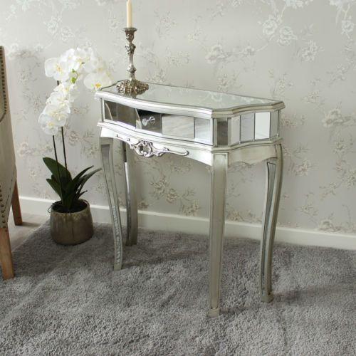 Ornamento-de-la-tabla-de-Consola-Con-Espejo-Media-Luna-pantalla-veneciano-Dormitorio-Pasillo-Hogar