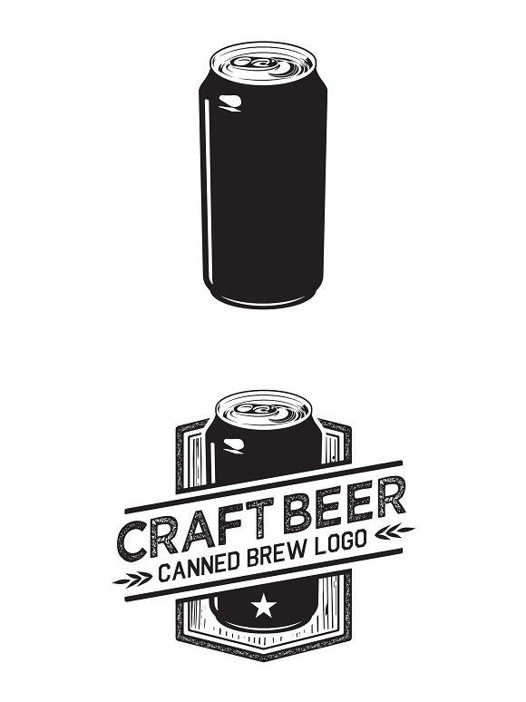 Craft Beer Can Logo | Logo Templates | Craft beer, Canning, Beer