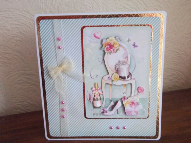 Books On Card Making Part - 44: A Wedding Card Made From Hunkydoryu0027s Little Book Of Moments And Memories.