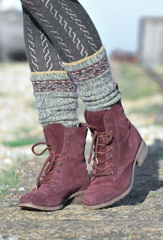 Brora suede ankle boots. love the socks n tights