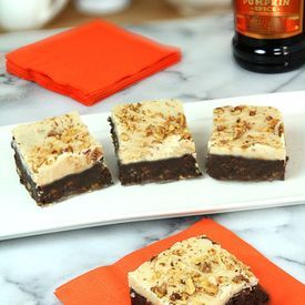 ... Kahlua Pumpkin Spice Brownies with Brown Butter and Kahlua Frosting