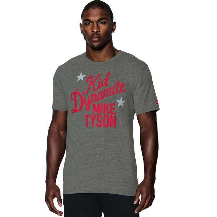 Under Armour Men's Roots Of Fight Mike Tyson Kid Dynamite Graphic T-Shirt, Size: Medium, Gray