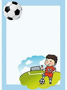 Papier voor de schrijfhoek, kleuters / Papier à lettre Sports et Loisirs à imprimer