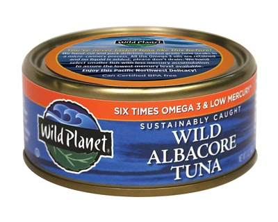 Wild albacore tuna from wild planet just tuna and sea for Fish with least mercury