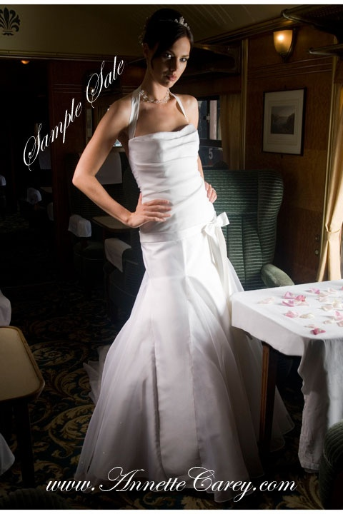 To make for you from £2,700.  Sample sale dresses available, one in ivory and one in white, size 10 - 12 for £300 each. Tried on in the design salon.