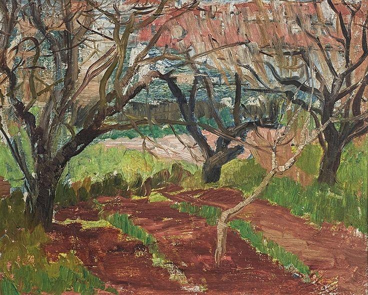 Freida Lock; Landscape with Trees