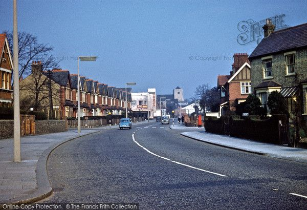Wealdstone, High Street from Graham Road with St. Joseph's Church in the distance 1962