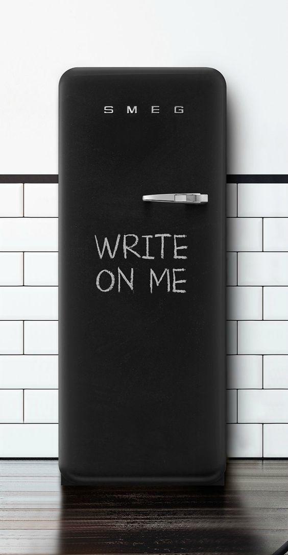 Smeg FAB28 Blackboard koelkast #keuken #krijtbord #smeg #smeglove