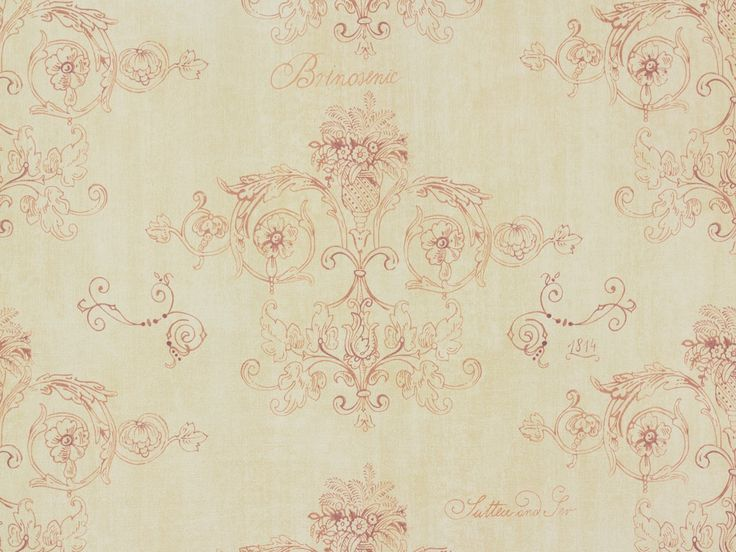 rasch behang | Rasch Textil VINTAGE DIARY wallpaper 255347 ornaments creme brown red