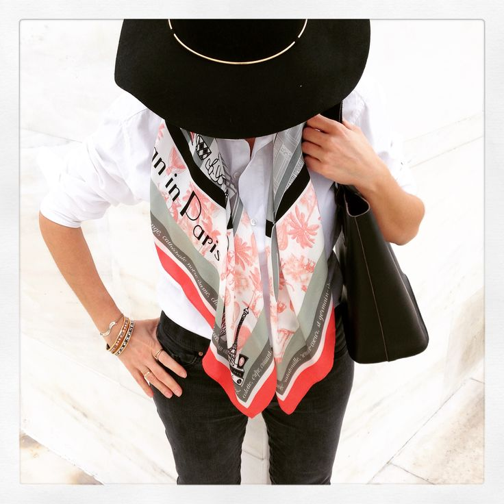 """Grecian in Paris"" silk scarf by Grecian Chic!"