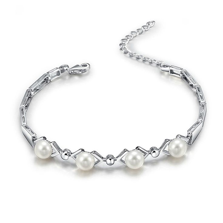 Women Freshwater Pearl 925 Sterling Silver Bracelet     FREE Shipping Worldwide     http://fashjewels.de/sinya-925-sterling-silver-bracelet-for-women-with-aaa-freshwater-pearls-best-for-lover-christmas-birthday-party-gift-2016-hot/