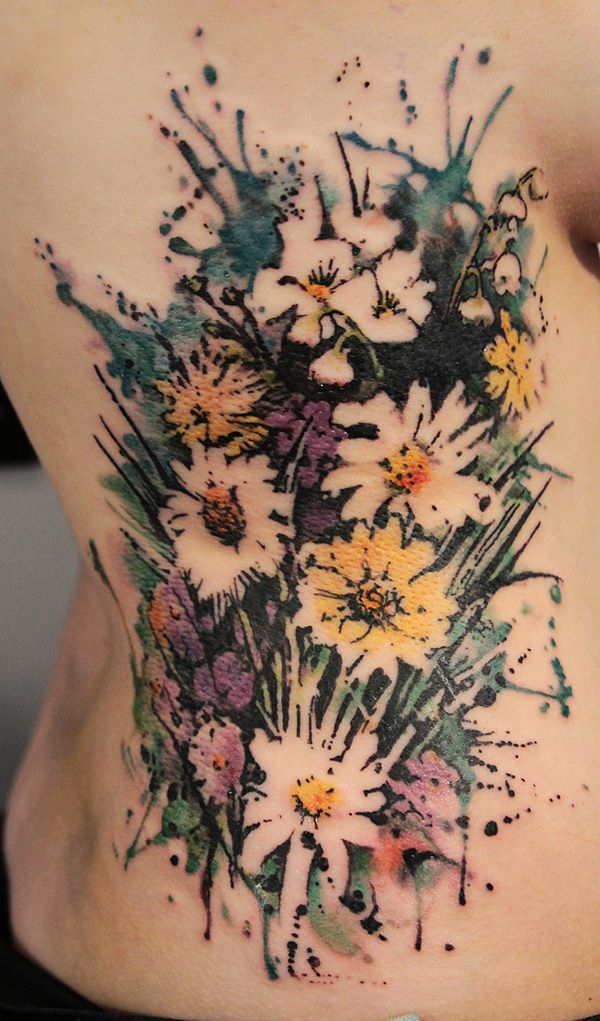 Love the use of negative space with no definite lines   Watercolor Tattoo   Cuded