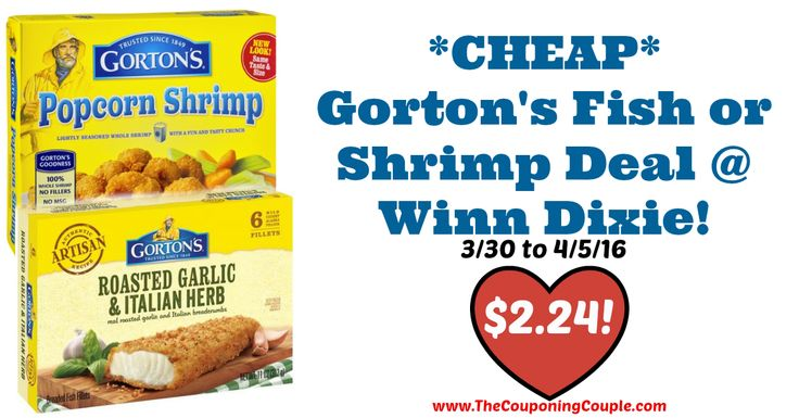 GREAT DEAL! *CHEAP* Gorton's Fish or Shrimp Deal @ Winn Dixie!  Click the link below to get all of the details ► http://www.thecouponingcouple.com/cheap-gortons-fish-or-shrimp-deal-winn-dixie/ #Coupons #Couponing #CouponCommunity  Visit us at http://www.thecouponingcouple.com for more great posts!
