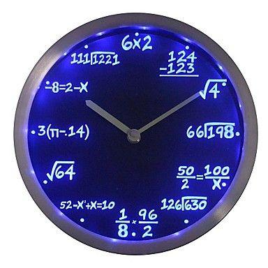 cadeau+nc0461+classe+de+maths+Algèbre+Formule+professeur+de+mathématiques+au+néon+Horloge+murale+LED +–+EUR+€+41.15