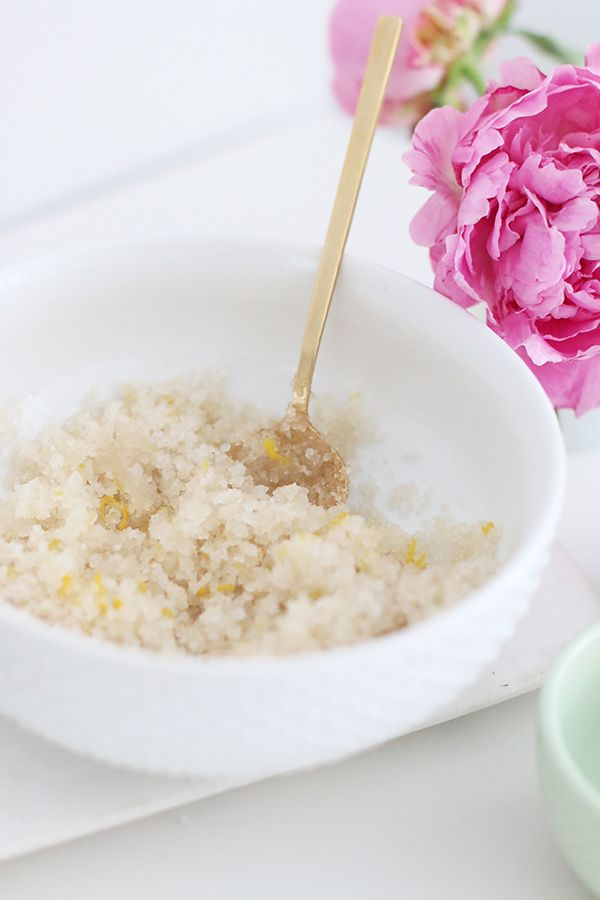 DIY Lemon Lavender Sugar Body Scrub