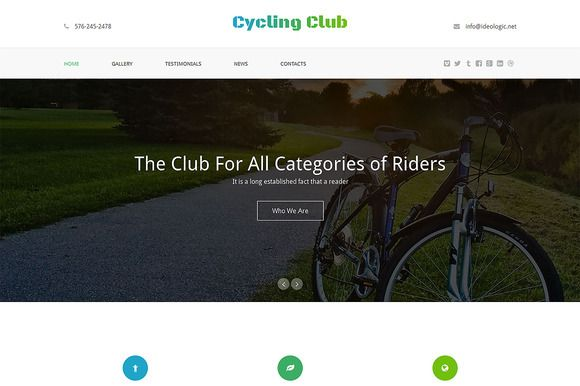 Check out Cycling Club One Page Theme by IceTemplates on Creative Market