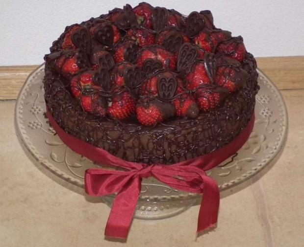 Čoko-jahodová dia torta - recept
