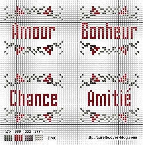 Amour Bonheur Chance Amitié (Love Happiness Luck Friendship) - Freebee van Aurelle