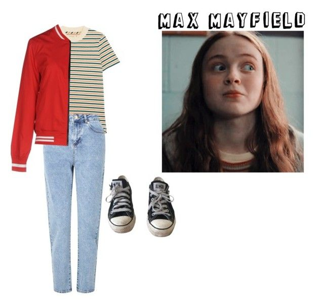 """Max Mayfield"" by nancywheeler-24 ❤ liked on Polyvore featuring Converse, Madewell, Miss Selfridge, Jacqueline De Yong, Season2, MadMax, StrangerThings, sadiesink and MaxMayfield"