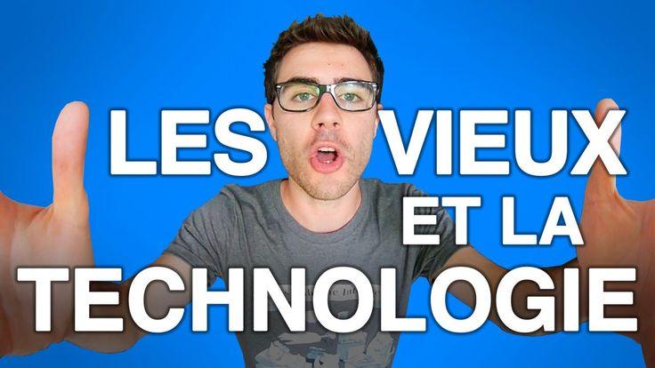 Les vieux et la technologie c'est comme... Nabila et le CNRS. Retrouvez mes t-shirts sur http://www.narmol.fr !