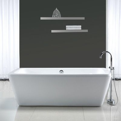 FREE SHIPPING! Shop AllModern for Ove Decors Kido 69' x 23 Acrylic Freestanding Bathtub - Great Deals on all  products with the best selection to choose from!