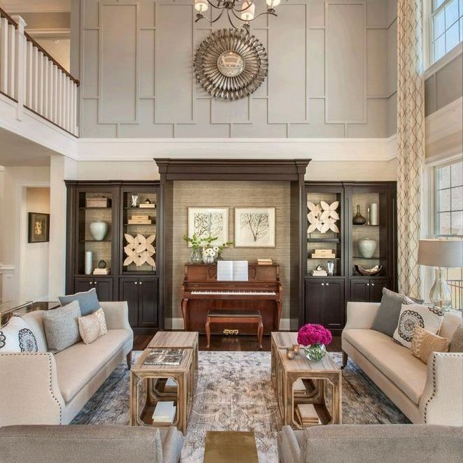 25 Large Wall Decor Living Room Vaulted Ceilings Open Spaces