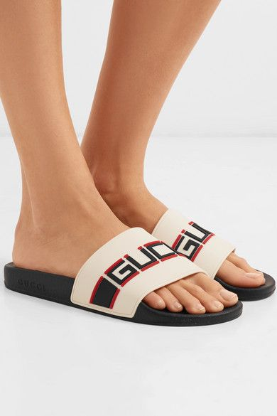 63914e499 Gucci - Logo-embellished rubber slides in 2019 | Wish List | Gucci ...