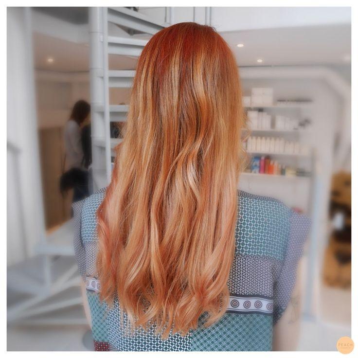 koppar blond ombre hårfärg