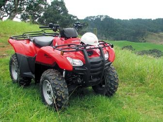 We intend to get a few of these for traveling on our land   Honda TRX420FPA .