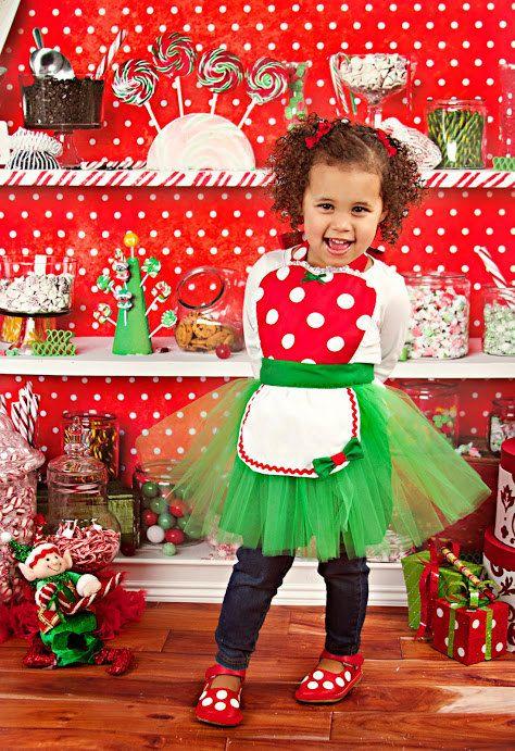 CHRISTMAS MINNIE MOUSE apron kids tutu by loverdoversclothing