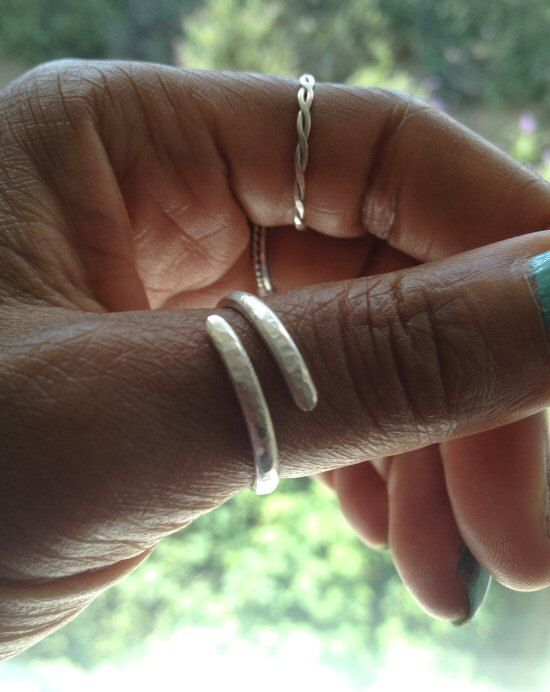 Silver Thumb Ring Adjustable Hammered Sterling Silver Ring on Etsy, $28.64