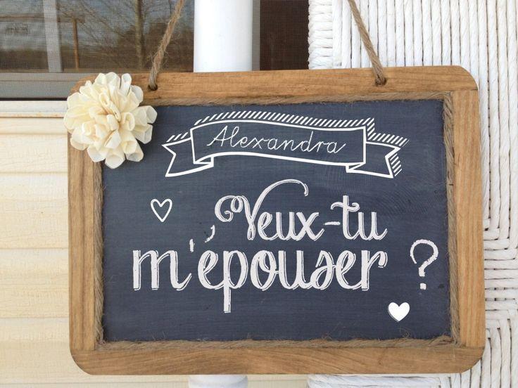tableau demande en mariage ardoise mariage pourquoi pas pinterest mariage and wedding. Black Bedroom Furniture Sets. Home Design Ideas