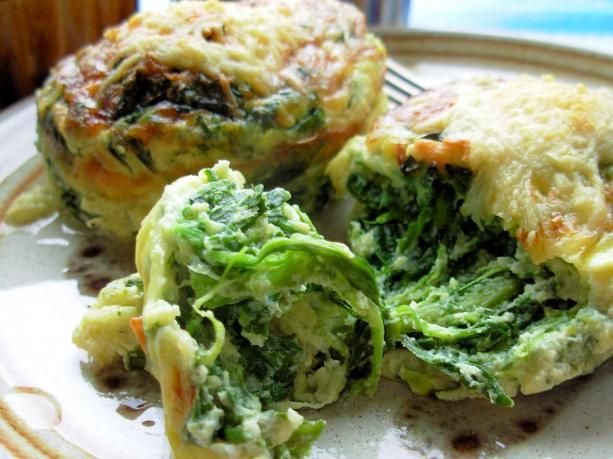 Parmesan Spinach Cakes ~ just need to sub full-fat for the low-fat items ^_^