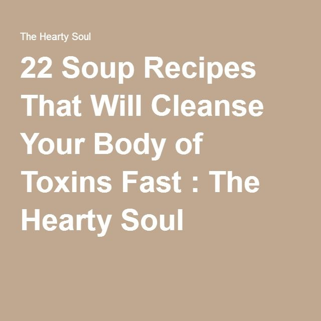 22 Soup Recipes That Will Cleanse Your Body of Toxins Fast : The Hearty Soul