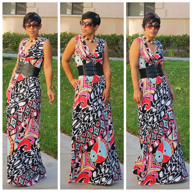 DIY Maxi Dress + Pattern Review M6700  Fashion, Lifestyle, and DIY