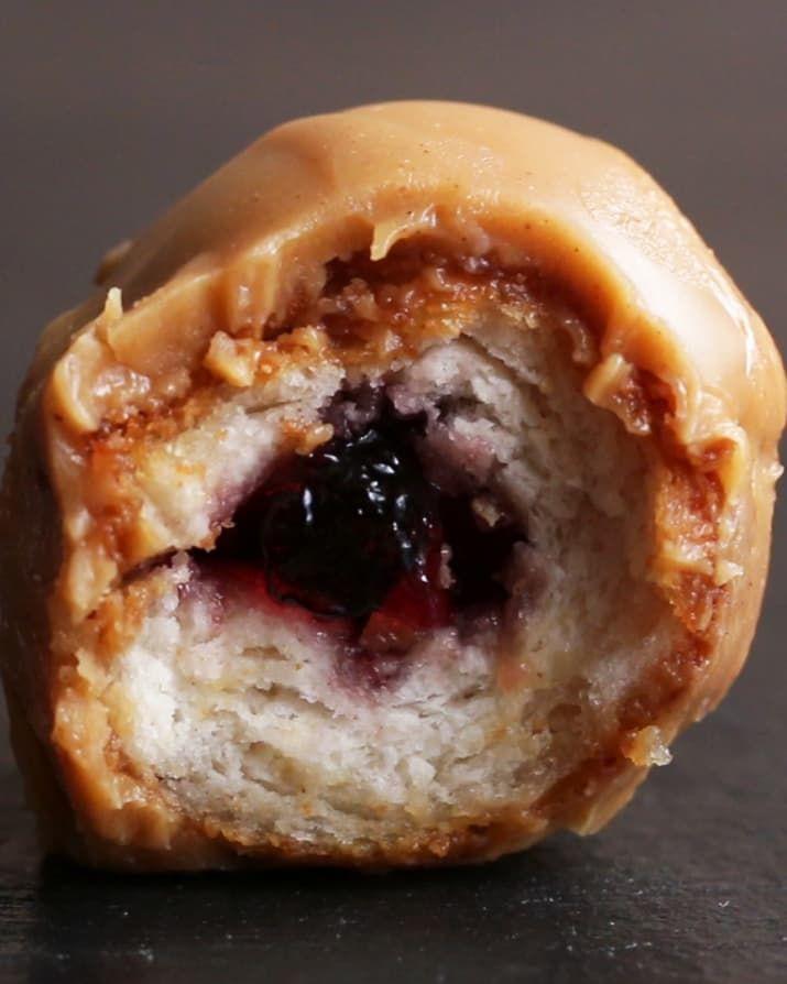 PB&J Doughnut Holes