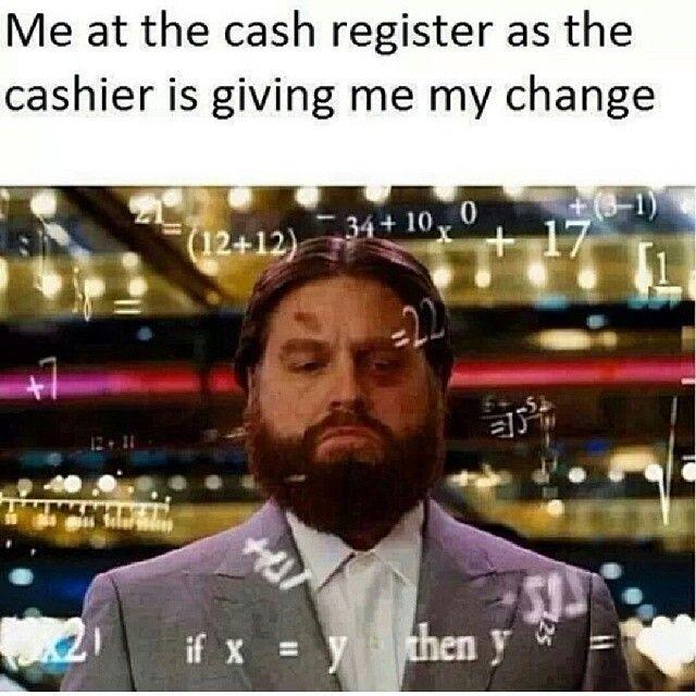 Hangover Alan Meme Lol hangover alan cashier