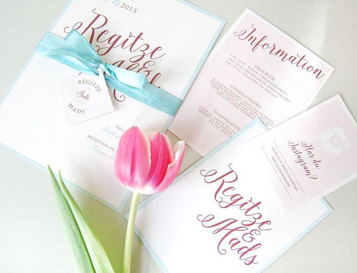 Regitze & Mads | Bryllupsinvitasjoner i personlig design