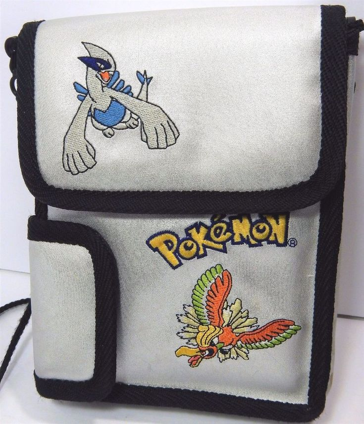 Nintendo Pokemon Game Boy Lugia & HoHo Carrying Case Silver Padded Pouch #Nintendo