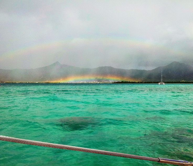 A double rainbow in the Indian Ocean