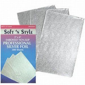 "Soft n Style 5"" X 8"" Embossed Non-Slip Professional Foil Sheets 300-Count by Soft n Style. $4.76"