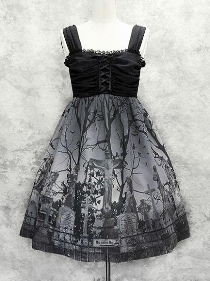 【予約受付中】スリーピングガーデンジャンパースカート(BK) - Moi-meme-Moitie Online Shop