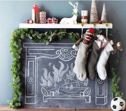 Рождество...мелом / Новогодний интерьер / ВТОРАЯ УЛИЦА