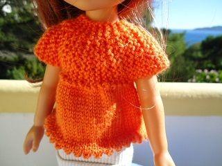 Tuto tunique orange pour poupée chéries de corolle - Le blog de iaia tri-cro-coud