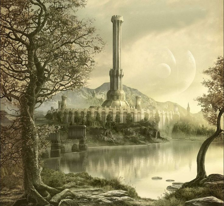 A view of the White Gold Tower in Imperial City, Cyrodil. - The Elder Scrolls IV: Oblivion